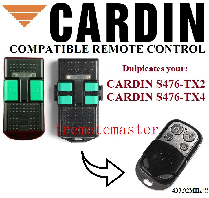 CARDIN S476-TX2,S476-TX4 compatible remote control replacement tx2 12v