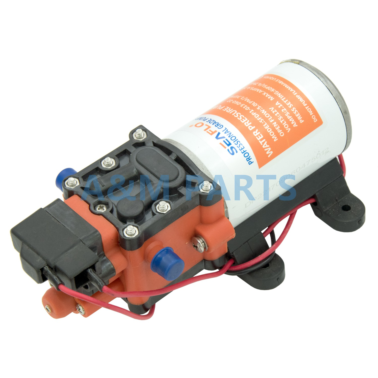 12V 60PSI 1.3 GPM Diaphragm Pump Boat RV Water Pressure Self Priming Pump