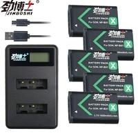 5x NP BX1 NP BX1 NPBX1 Batteries+USB Dual Charger For Sony HDR AS200v AS20 AS15 AS100V DSC RX100 X1000V WX350 RX100 RX1 RX100ii
