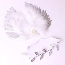 2017 pudcoco New Arrivals Newborn Infant Baby Feather Pearl Leaves Angel Wings Headband Wing