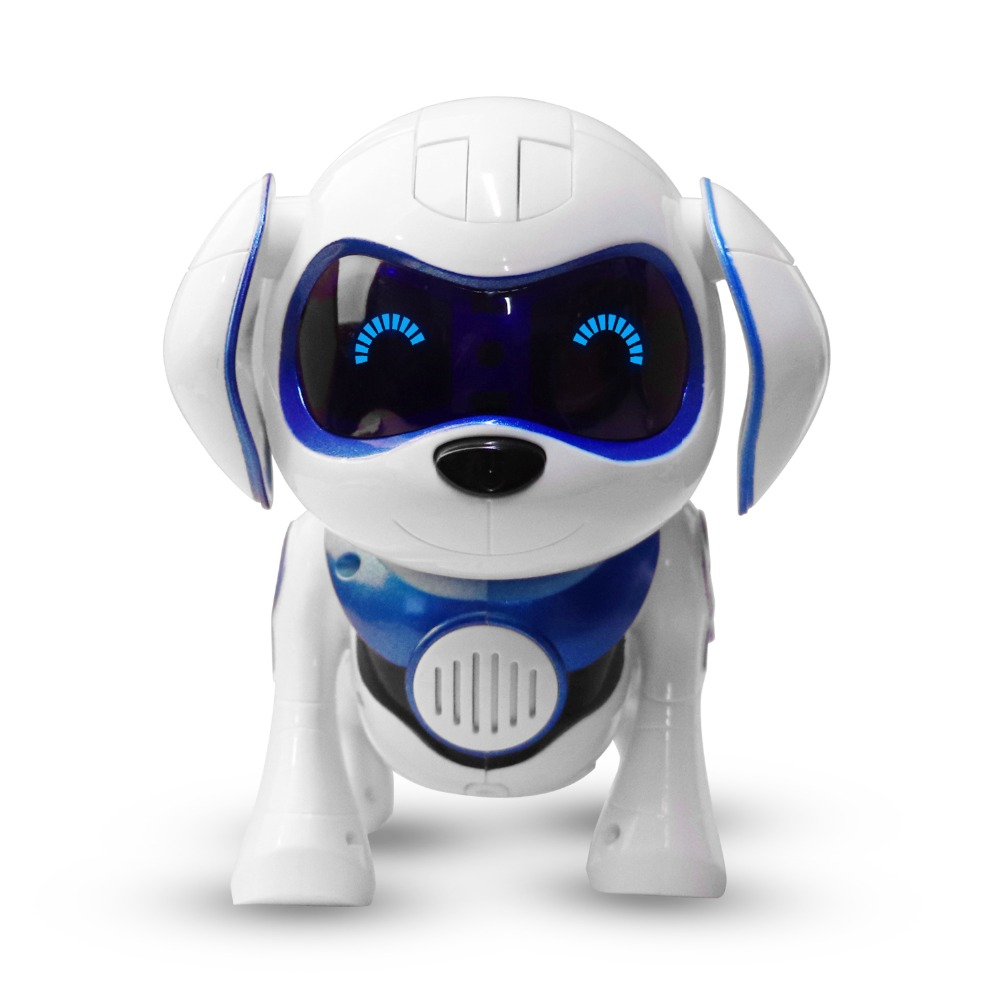 New Blue electronic pet toy dogs with music sing dance walking Intelligent mechanical Infrared sensing Smart robot dog toy gift цена
