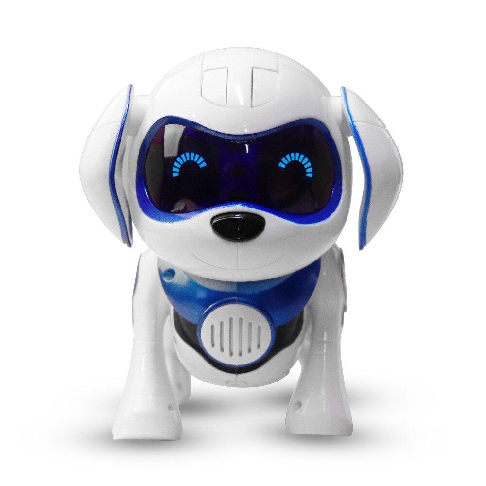 Nouveau Bleu électronique pet jouet chiens avec musique chanter danse marche mécanique Intelligente Infrarouge de détection Intelligent robot chien jouet cadeau