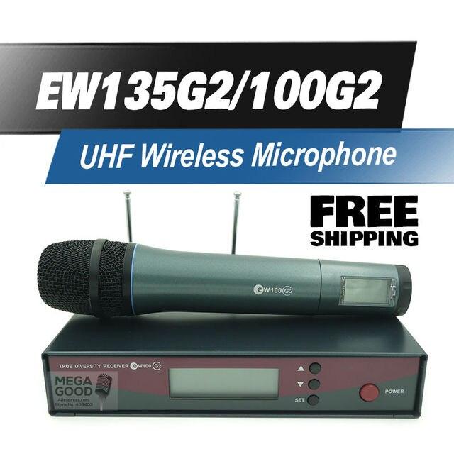 Бесплатная Доставка! EW135G2 Профессиональные EW 135G2 УВЧ Беспроводной Микрофон Беспроводная Система EW100G2 135 G2 Для Вокала Речи Караоке