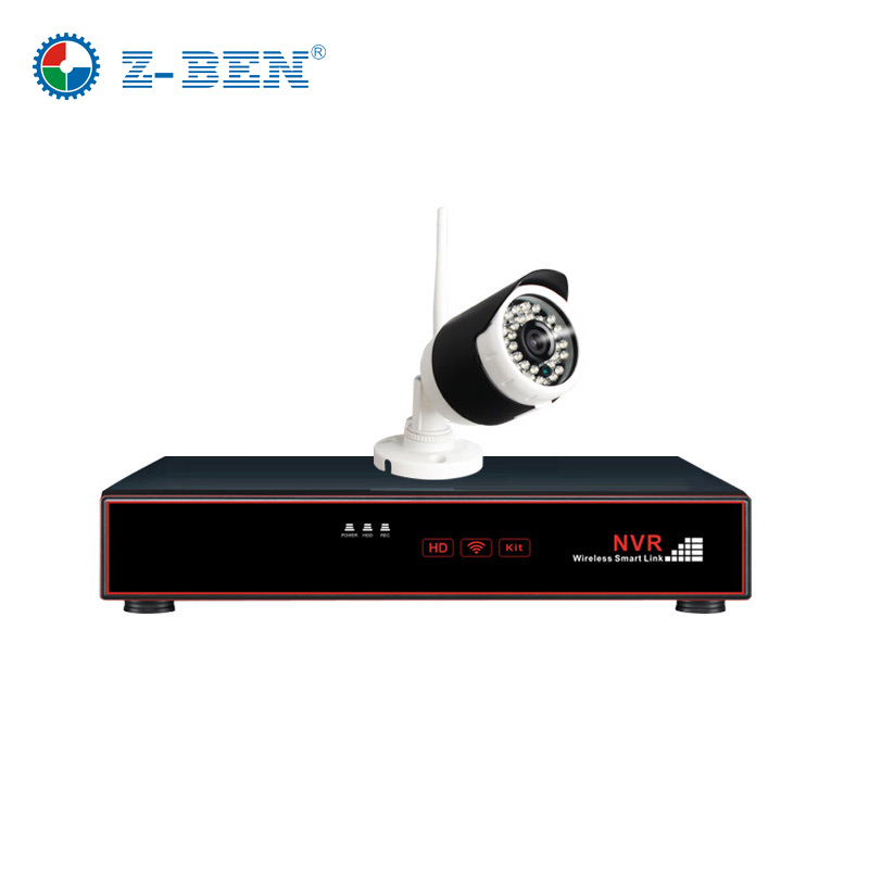 Z-BEN Plug and Play 4CH Wireless NVR Kit P2P 720P HD Outdoor IR Night Vision Security IP Camera WIFI CCTV System Support 4TB HDD plug and play 4ch 960p wifi nvr kit wireless cctv onvif ip camera system outdoor ir night vision security surveillance for home