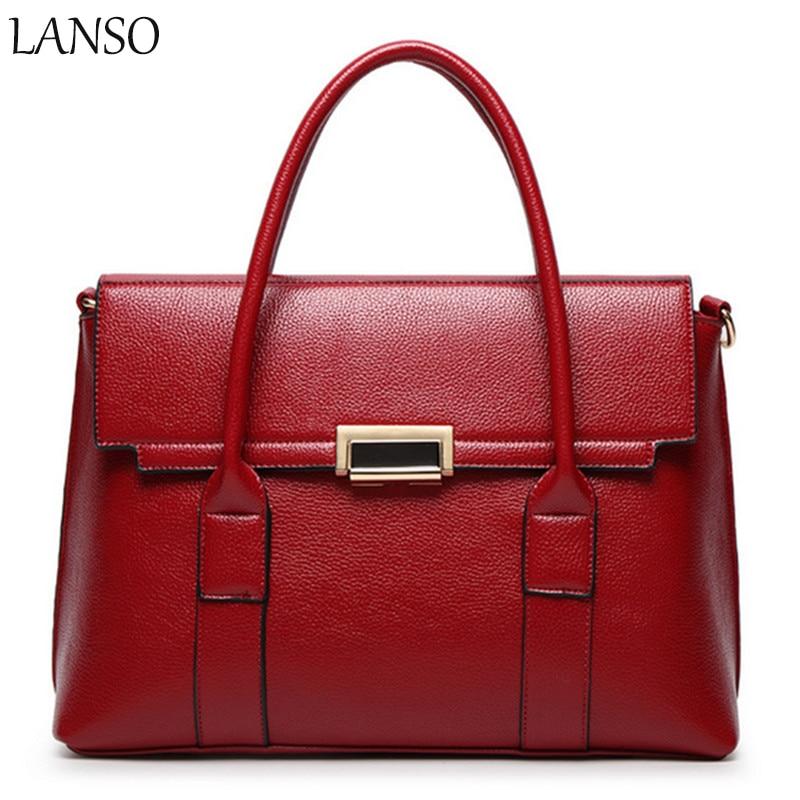 ФОТО Brand New  Fashion Style Litchi Pattern Platinum Bag Temperament Portable Shoulder Bag Ladies Stylish Elegant Large-Capacity Bag