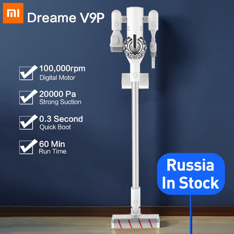 dreame v9 handheld cordless vacuum cleaner protable wireless cyclone filter 115aw strong suction. Black Bedroom Furniture Sets. Home Design Ideas