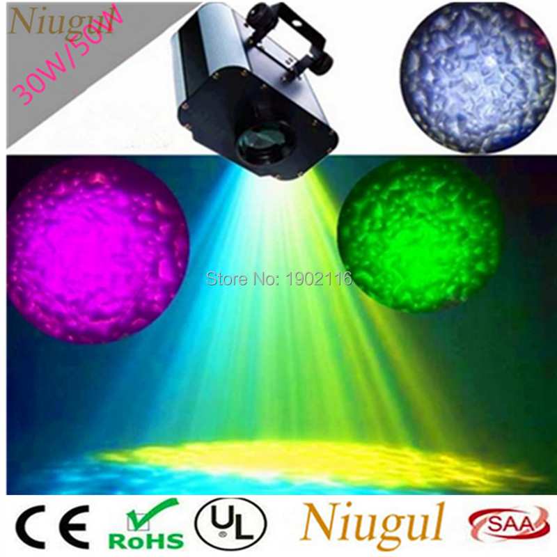 2pcs/lot 30W/50W Ocean Wave Effect Pool Lighting, LED Projector Water Flowing Stage LED Water Wave Effect Stage Lights