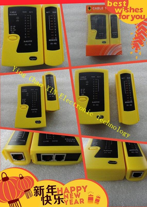 100 шт./лот сетевой кабель тестер RJ45 RJ11 RJ12 Cat5 UTP кабель lan тестер Сетевое оборудование инструмент оптом и в розницу DHL Бесплатная доставка