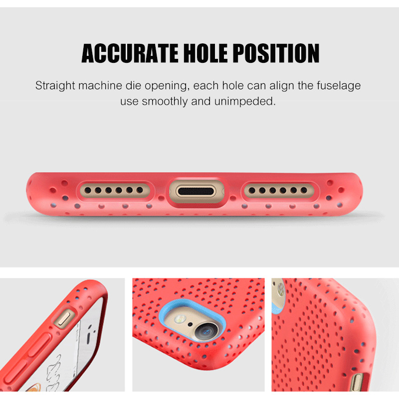 Image 3 - H&A Luxury Heat Dissipation Cover Case For iPhone 7 Plus Soft Silicone Case For iPhone 7 Full Protection Silicon Case-in Half-wrapped Cases from Cellphones & Telecommunications