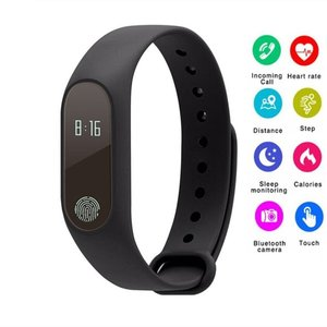 M2 Smart Sport Bracelet Heart Rate Monitor Activity Tracker Sleep Monitor Call Reminder Pedometer Wristband for IOS Android