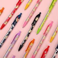 8pcs/set kamio japan Pikachu limited gel pen Cute Cartoon Kawaii Modeling 0.38mm Press Gel Pen for student writing stationery