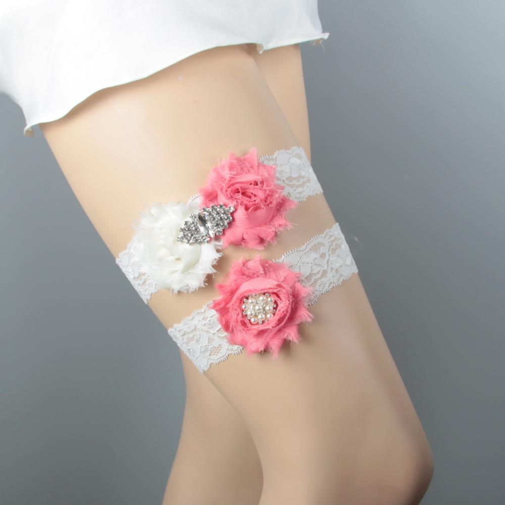 Дизайн кружевная отделка потертый цветок Свадебная подвязка для свадьбы подвязка для невесты синий потертый цветок ручной работы - Цвет: C