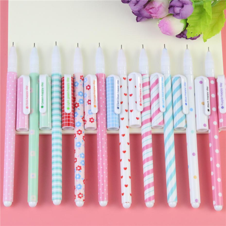 10 Pcs Kawaii Cartoon Colorful Gel Pen Set Cute Korean Stationery Pens For Writting Office School Supplies Gift Free Shipping