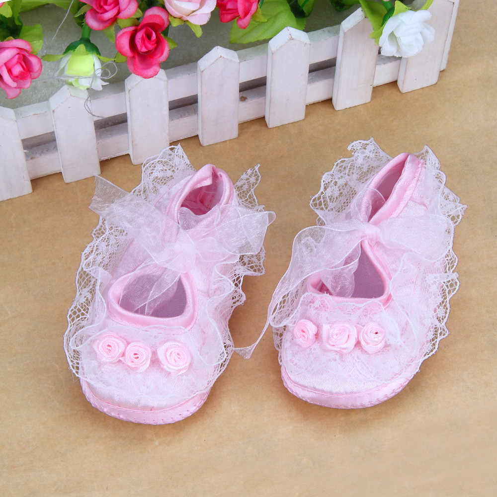 baby girl shoes Baby Pre-Walker Shoes Rose Flowers Newborn first walkers Baby crib Soft Shoes kız bebek ayakkabı1.484