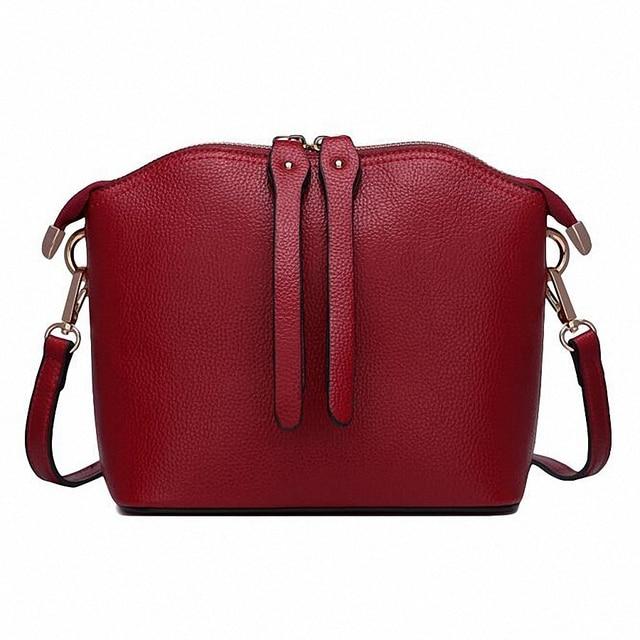 ForUForM New small shell handbags fashion female shoulder bag genuine leather cross body bags brand women messenger bags LI-1716