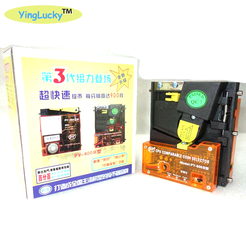 yinglucky new CPU PY-800 Comparable Drop Insert Kind Coin Acceptor Coin Selector-Arcade Game Accessories