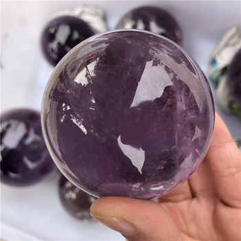 1pc about 6cm natural amethyst quartz sphere and mineral amethys crystal ball gift healing meditation dispel negative energy