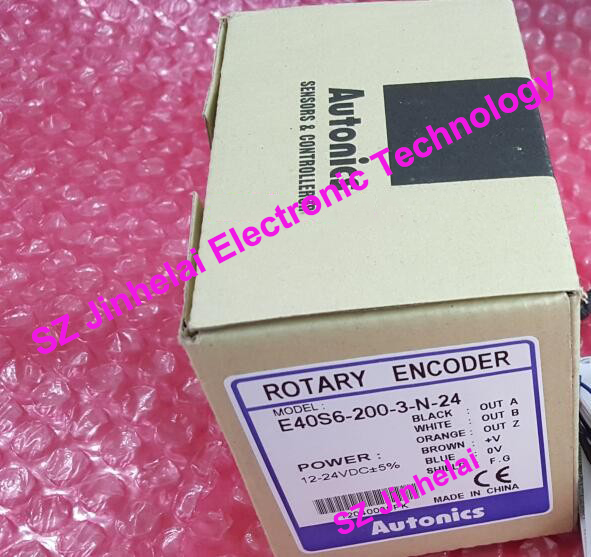 100% New and original E40S6-200-3-N-24, E40S6-200-3-T-24 AUTONICS Encoder 12-24VDC цены