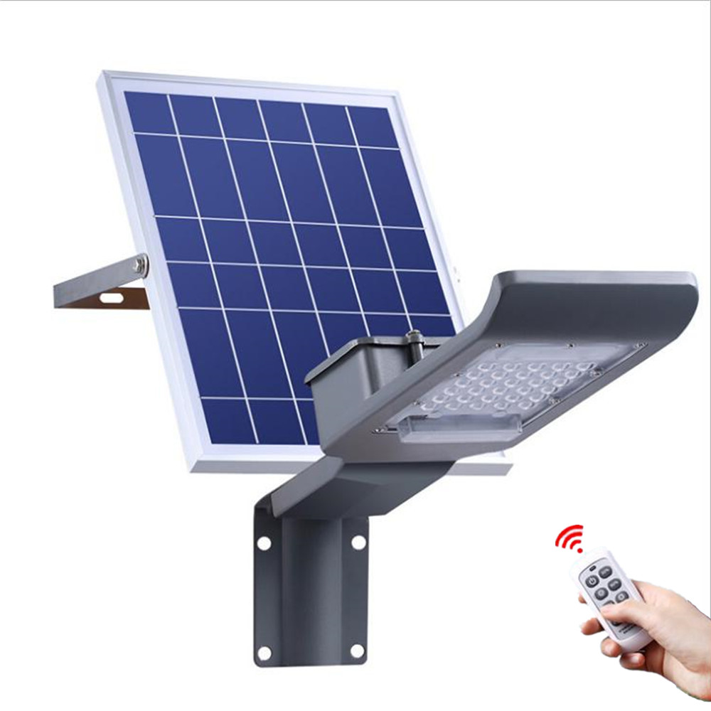 Us 42 35 19 Off Solar Panel Ed Garden Lamp 30w Led Remote Control Street Light Outdoor Lighting System Wall Waterproof Ip65 In