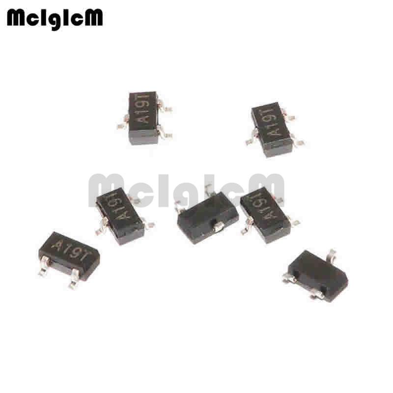MCIGICM AO3401A,100pcs SMD P-Channel 30V 4A (Ta) 1.4W (Ta) Mosfet Transistor SOT-23 AO3401