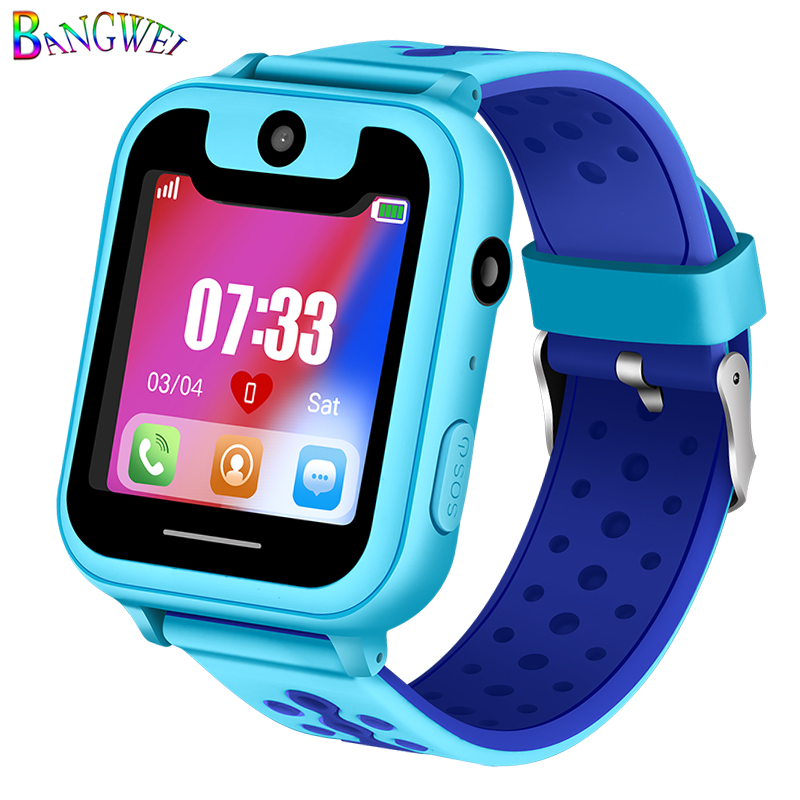 BANGWEI New Kid Child Smart Anti lost Bracelet LBS Tracker SOS Call Smart Band Wristband IOS Android Wrist Watch for Children