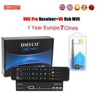 1 Año Europa Cline Servidor HD DMYCO España V8S PRO DVB-S2 Receptor de satélite Hd 1080 P Con USB WIFI Antena V8S PRO Receptor