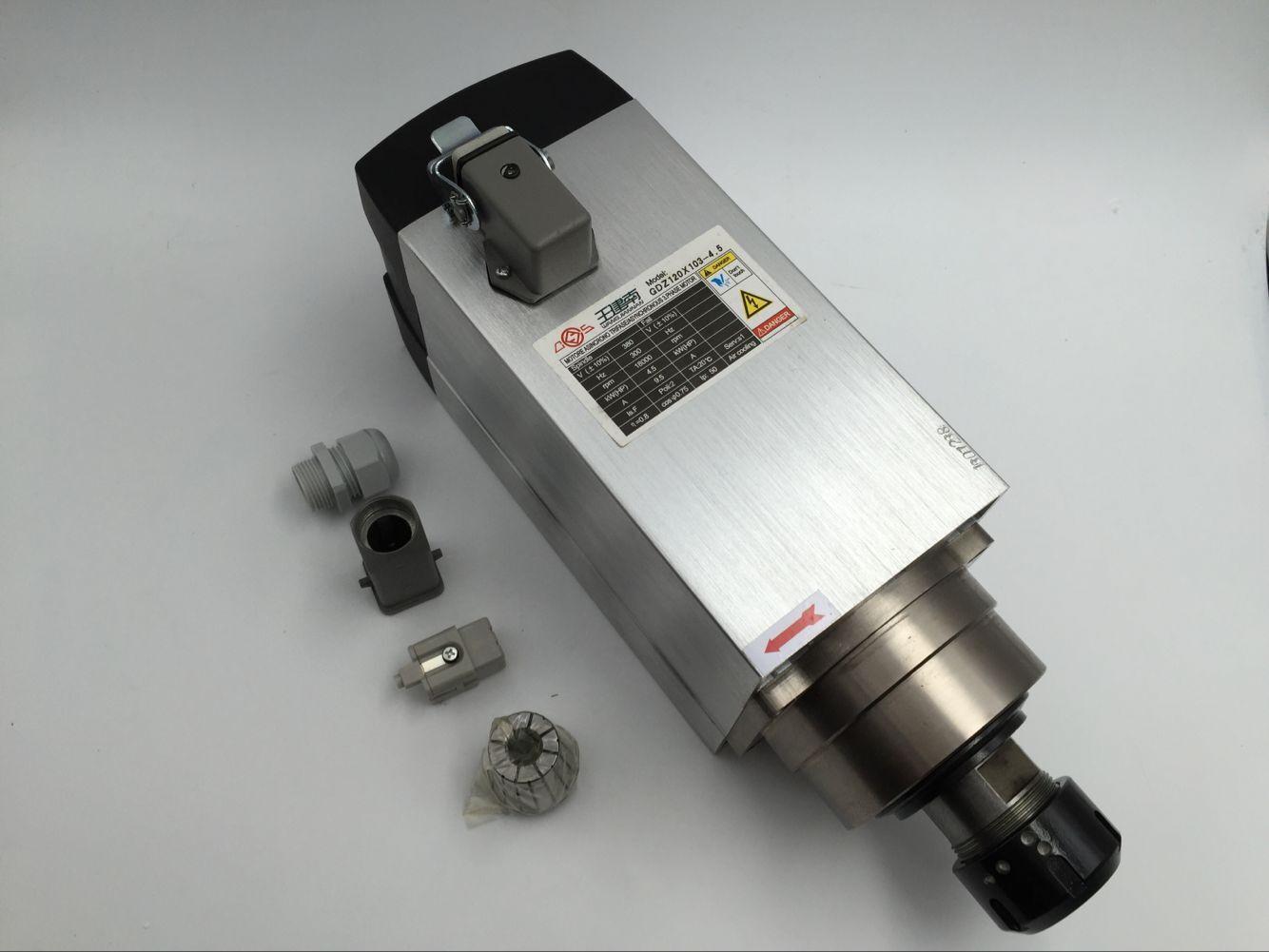 4.5KW 6HP 4 ER32 380 V Spindle Motor Refrigerado A Ar peças de Cerâmica Rolamentos de Alta Precisão para a máquina de Gravura do CNC Router máquinas para trabalhar madeira