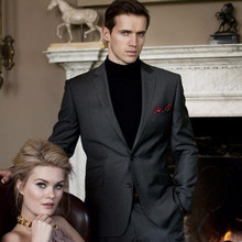 Men's suits, Tailor Made men suits Dark Gray wool blended Groom suits Tuxedos fashion Prom Party Suits (Jacket+Pants)