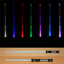 Drop Shipping 2 pcs/lot 7 Colors Switched Scalable Lightsaber Laser Sword Toys Cosplay Weapons Sabers Kid Boy Gift(China)