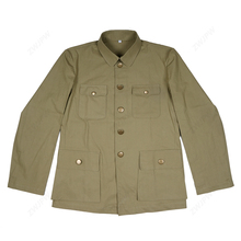 WW2 Китай KMT мужская униформа Тип китайский костюм солидер куртка анти-японская трава зеленая куртка копия пленка экспорт Чистый хлопок