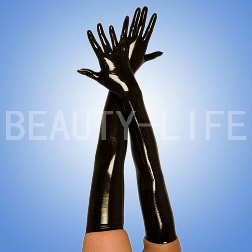 Latex  gloves long to elbow CD cosplay  accessory for fashion 2D slim long finger version