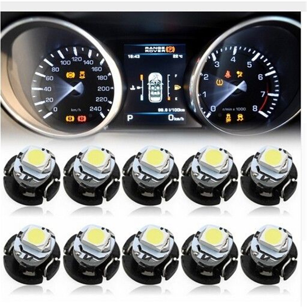 10pcs T3 1210 1SMD 12V Instrument Lamps Car Led Dashboard Cluster Indicator Read Light White/Yellow/Green/Blue/Ice Blue/Red/Pink