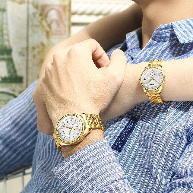 CHENXI Gold Wrist Watch Men Watches Lady Top Brand Luxury Quartz Wristwatch For Lover's Fashion Dress Clock Relogio Masculino 5