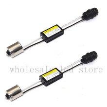 2 шт. BA9S 64132 H6W CANBUS безошибочную нагрузочного резистора подключения светодиод декодер Предупреждение сообщение мигает адаптер парковка