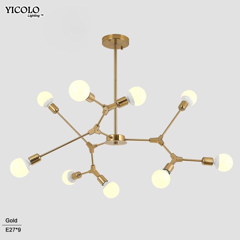где купить Nordic LED Pendant Lights Art Restaurant Modern Pendant Lamps 3/6/9 Light Dining room Hanglamp Lamparas Home Decoration Lighting по лучшей цене