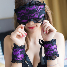 Sex Products Soft Padded Eye Mask Blindfolded Patch With Handcuffs Erotic Costumes For Women Sexy Lingerie Adult Flirting Toys