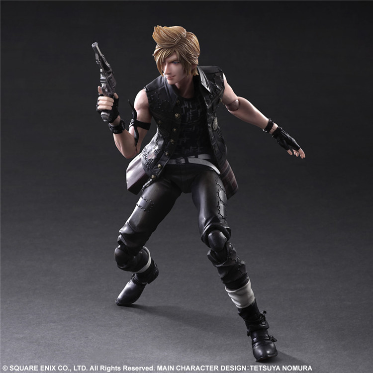 Play Arts Final Fantasy Figure Final Fantasy XV Prompto Argentum Figure PA 27cm PVC Action Figure Toys Play Arts Kai Figure play arts final fantasy figure final fantasy vii sephiroth figure pa play arts kai cloud strife 27cm pvc action figure doll toys