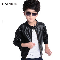 2015 New Fashion Children S PU Leather Motorcycle Jacket Autumn Winter Kids Outwear Children Cool Coat