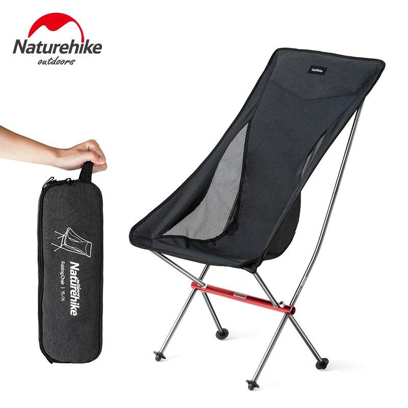 NatureHike chaises de camping Portable Pliant Lune Chaise De Pêche BARBECUE Jardin Tabouret Ultra-Léger Allongé Croquis Siège Charge 150 KG