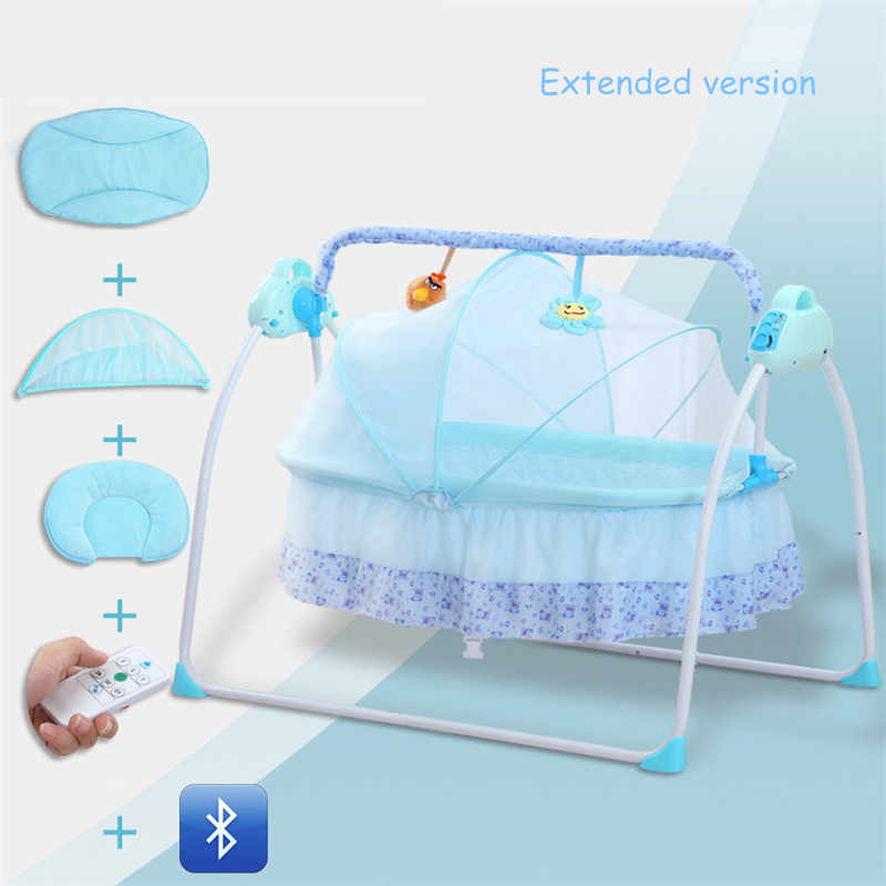 Extended Version Multifunctional Baby Crib Intelligent Electric Portable Baby Bed Bluetooth Music Cradle Sleepy Cuna Para Bebe