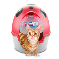 Cat Sandbox Litter Box Totally Closed Tray Toilet Bedding Training Detachable Bedpan Kitten For Small Medium Cats Accessories