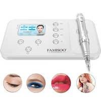 FAMISOO N6 permanentny makijaż maszynka do tatuażu zestawy profesjonalna cyfrowa maszynka do tatuażu brwi Lip Pen zestawy maszynowe obrotowe MTS