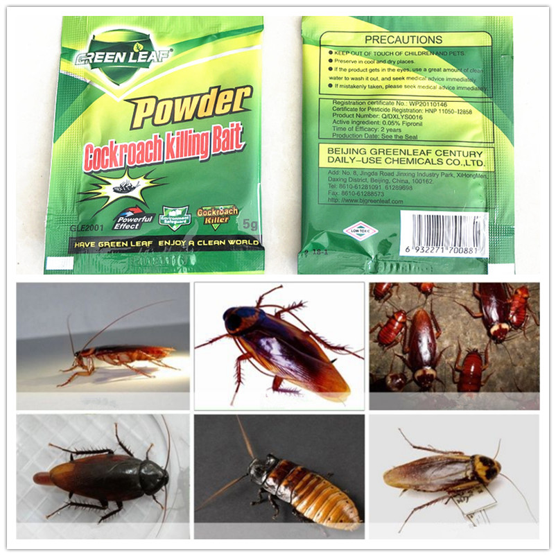 20 Pack/Lot  Effective Killing Cockroach Bait Powder Repeller Insect Roach Killer Anti Pest Reject Trap Control