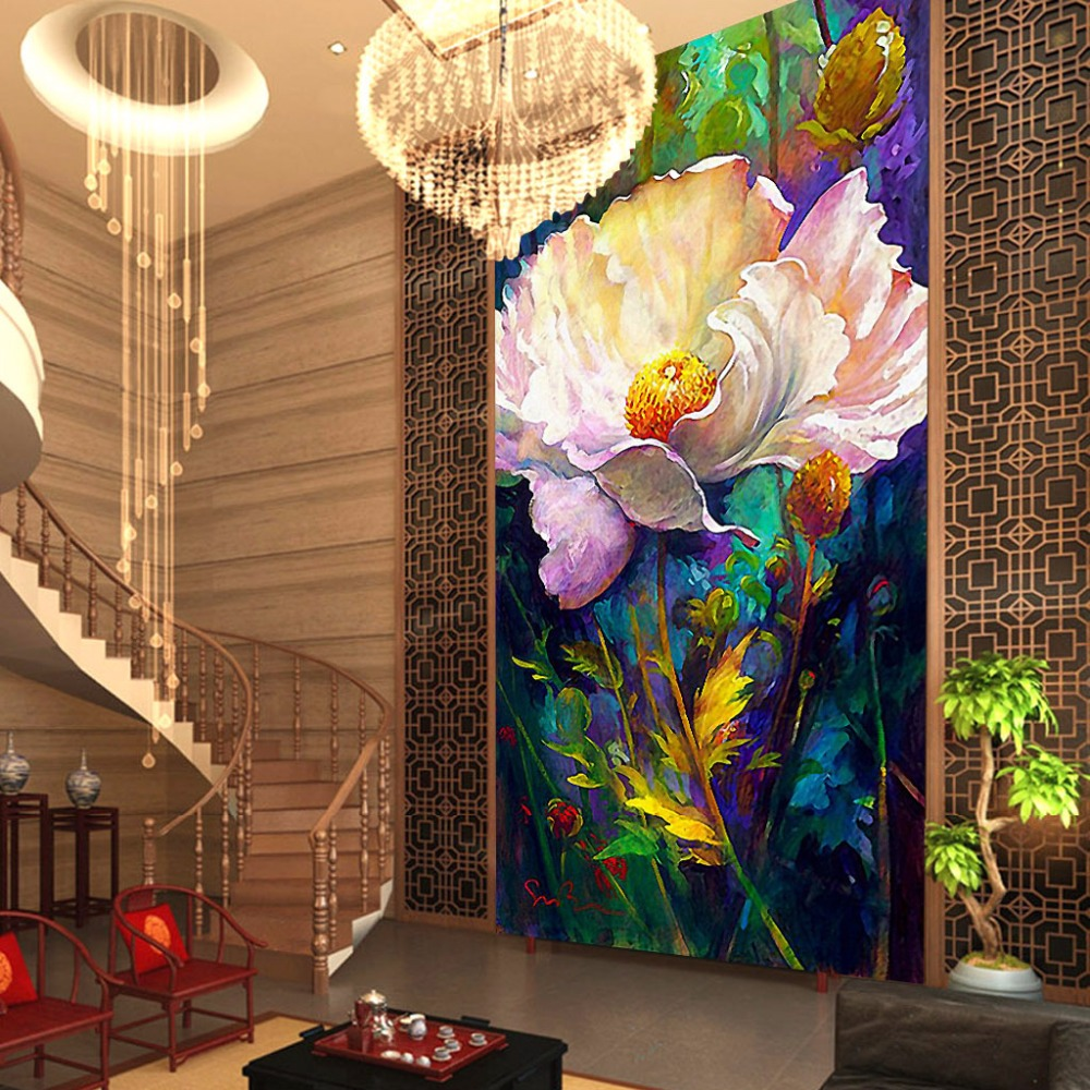 3d Large Romantic Vintage Floral Wallpaper For 3d Wall Paper