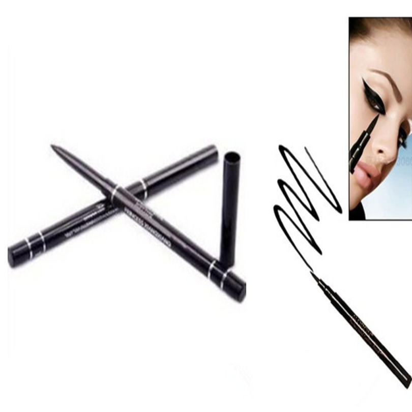 2 Pcs Hot Ultimate Black Liquid Eyeliner Long-lasting Waterproof Eye Liner Pencil Pen Ni ...