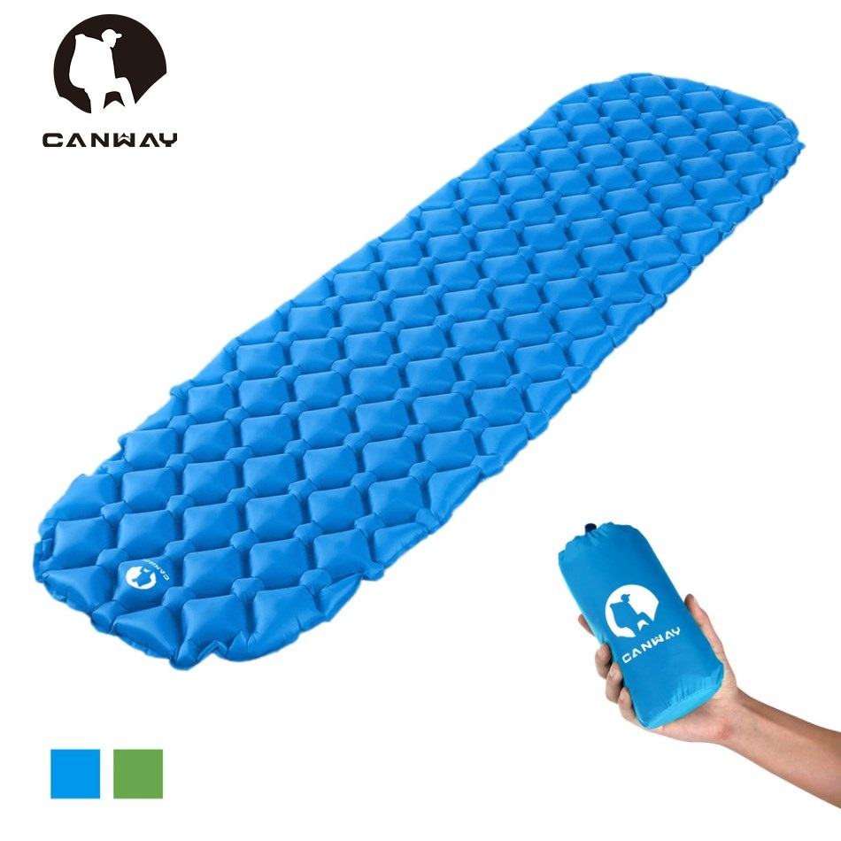 CANWAY Inflatable Camping Mat Sleeping Pad Outdoor Hiking Picnic Tent Mat Waterproof Folding Bed Lightweight Air Mattress barbecue camping equipment matelas gonflable tent mat sleeping picnic blanket beach mat high quality yoga pad air inflatable