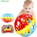 Mipozor Baby Toys Fun Little Loud Jingle Soft Ball Ring Jingle Develop Baby Intelligence Training Grasping Ability Toy