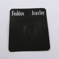 7*6cm  200 Pieces-Pack Black  PVC Jewelry Case Stud Earrings Display Hanging Card  36830 Hot Sale