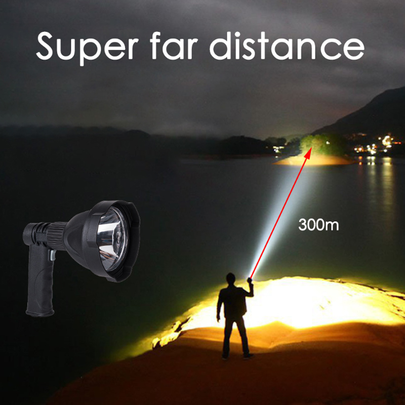Купить с кэшбэком SecurityIng 10W XML-L2 LED Multi-function Flashlight USB Charging Handheld Bracket Light with 3 Modes Light for Patrolling