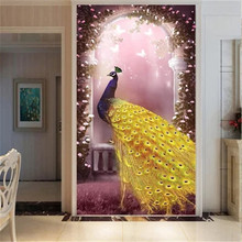 DiamondEmbroidery,China,landscape,scenery,Peacock,5D Full Diamond Painting,Flower Cross Stitch,Diamond Mosaic,Decoration